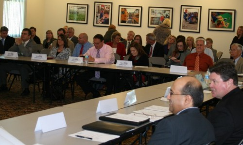 A full house for a meeting of the SESC Board of Directors.