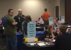 Students visited career booths at the CCR Transition Fair hosted by SESC at Eastern Kentucky University on April 21, 2016