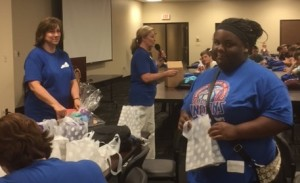 Students received gift prizes at the CCR Transition Fair hosted by SESC at Eastern Kentucky University on April 21, 2016