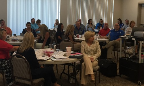 SESC partnered with KASA to offer Certified Evaluation Trainings in Corbin on August 24-25. Large groups of administrators from across the state attended the trainings led by Rita Muratalla of KASA.