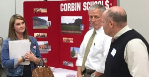 SESC hosted its first New Teacher Job Fair in Corbin on April 26, 2016. Districts met with prospective teachers in an effort to fill school vacancies for the 2016-17 school year.