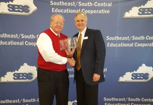 The SESC Board of Directors recognized Board chairman Ed McNeel upon his retirement as superintendent of Corbin Independent School District at its December meeting. Mr. McNeel has been chairman of SESC's governing board since July 1, 2013.