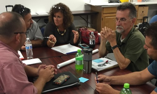 PLC Training – Staff from the Pulaski Area Vocational School worked together during the PLC training provided by SESC on August 2, 2016.