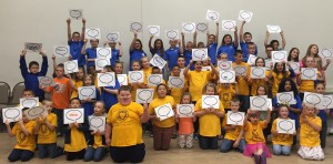 Students from Dewitt Elementary School, Lay Elementary School, Middlesboro Elementary School, and Waynesburg Elementary School attended the second annual Leader In Me Regional Student Showcase in Corbin on April 26, 2016. Students gave presentations on LIM activities in their schools and participated in leadership activities led by Jonathan Catherman of Franklin-Covey.