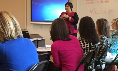 KDE Associate Commissioner Rhonda Sims spoke to the SESC Instructional Supervisor Cadre meeting on April 14, 2016. Mrs. Sims addressed issues related to the federal Every Student Succeeds Act and a new accountability system for Kentucky.